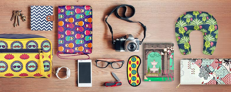 Buy Travel Accessories Online | Colourful Travel Accessories