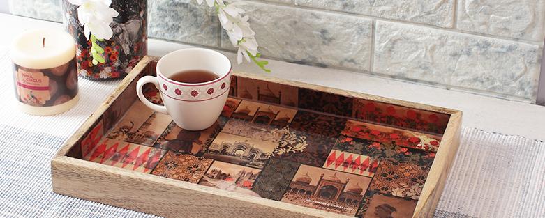 Shop Designer Wooden Trays Online