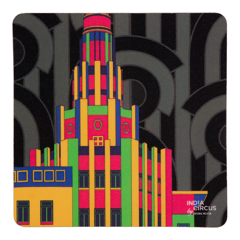 Bombay Deco Rubber Coasters - (Set of 6)
