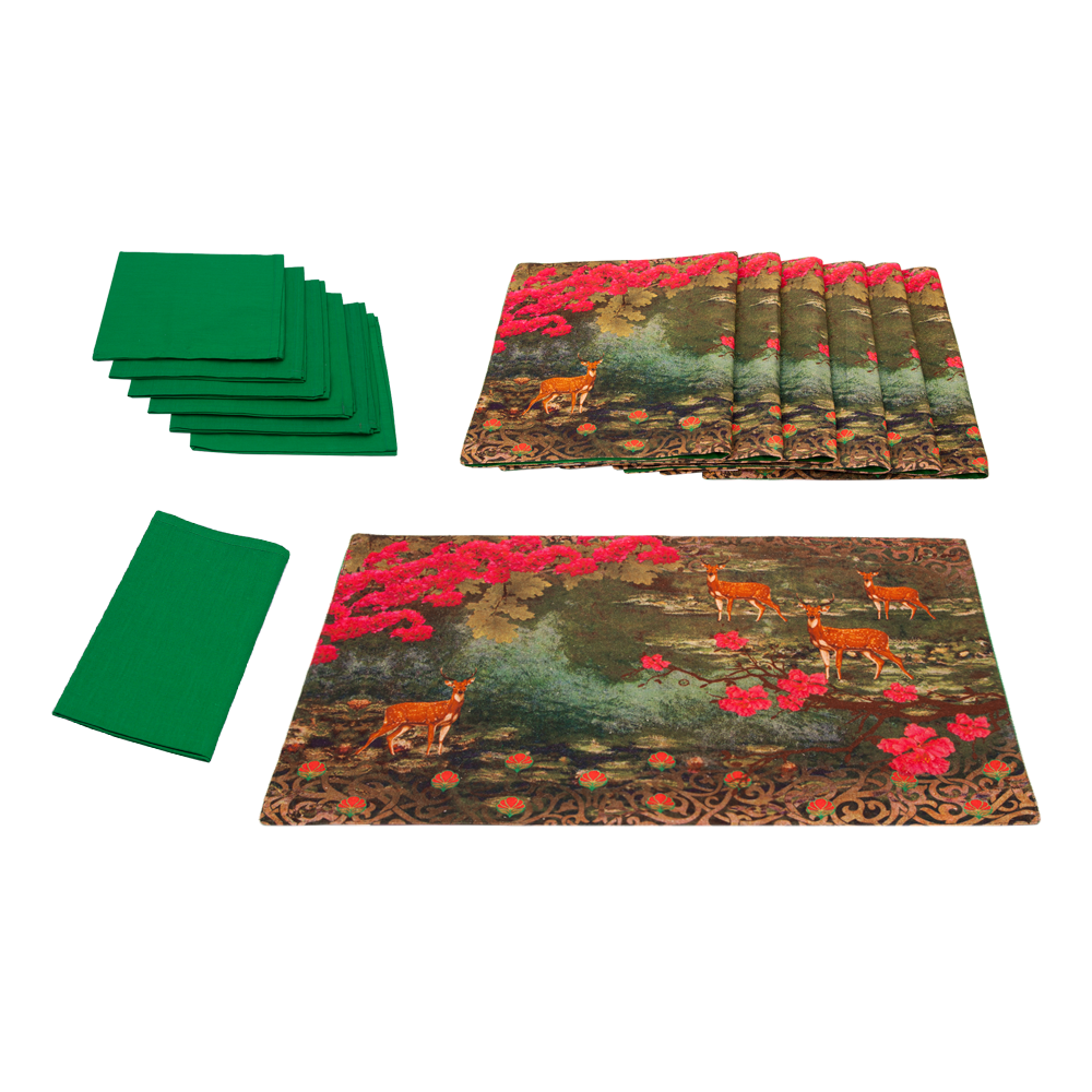 Garden of ShangriLa Table Mat & Napkin Set