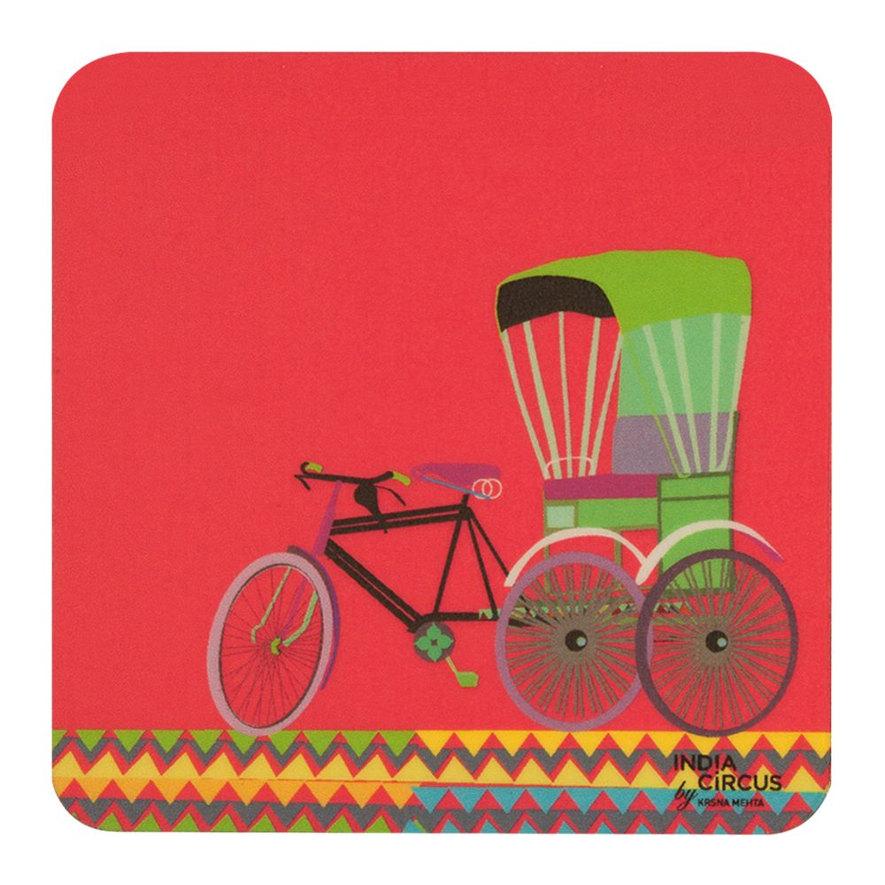 Cycle Ride Rubber Coasters - (Set of 6)
