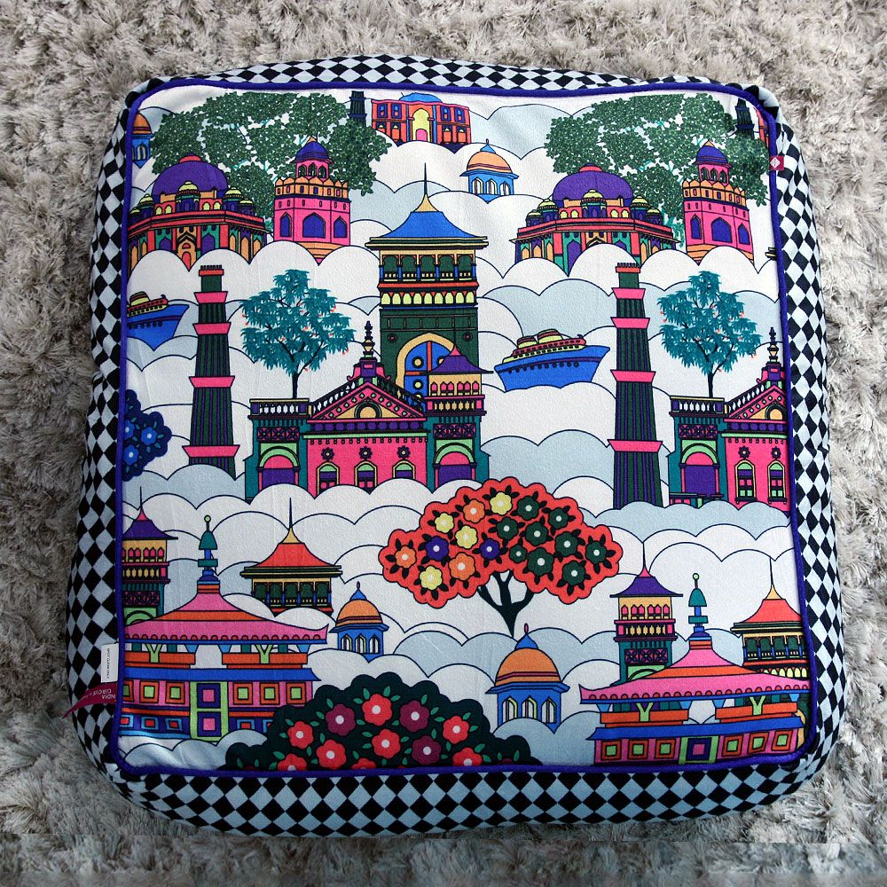 Jalebi Namaste Sky - line Floor Cushion Cover