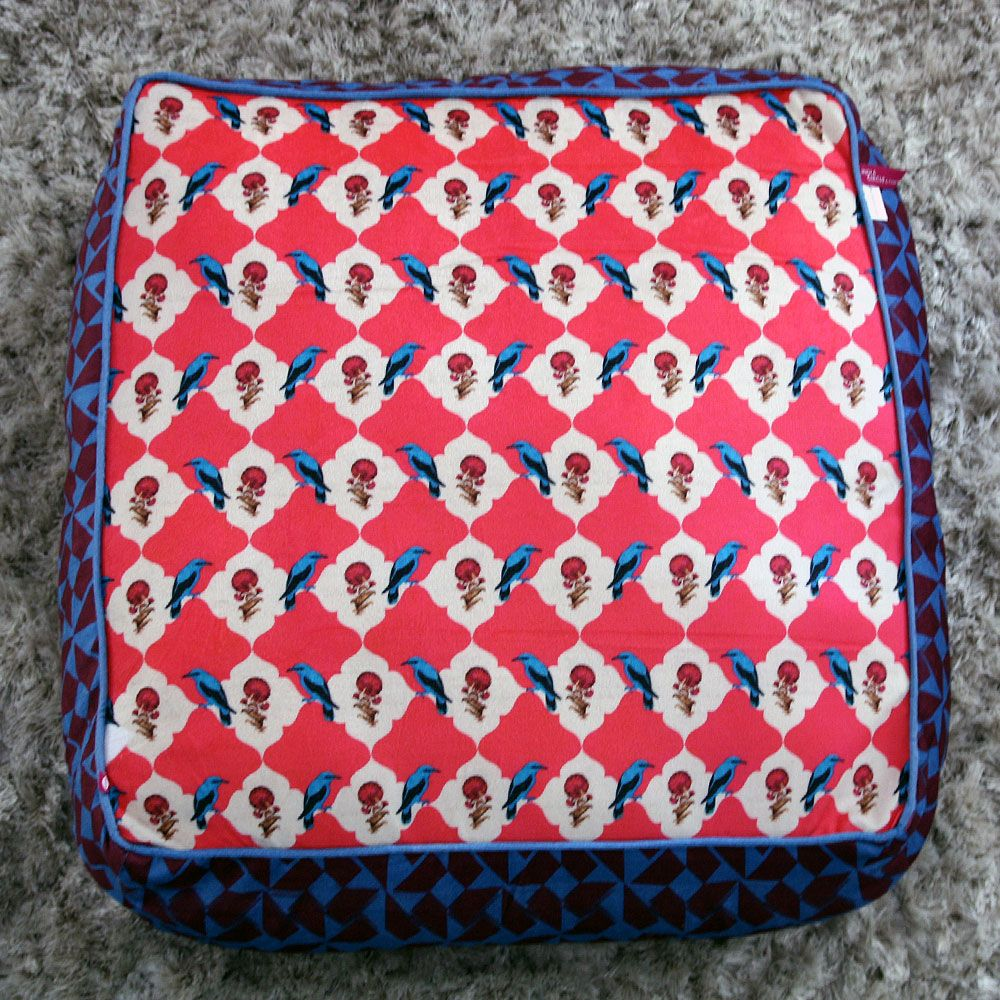 Kuheli Floral Feather Floor Cushion Cover