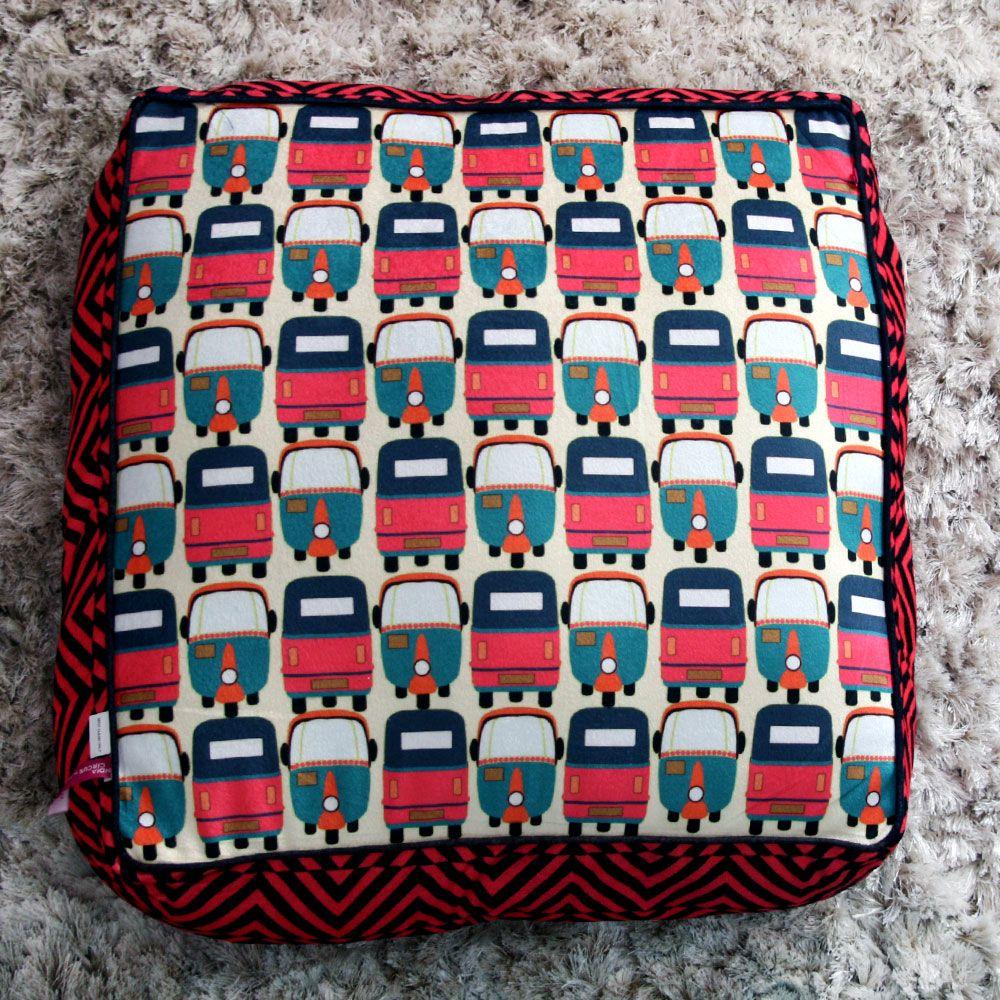 Jalebi Rickshaw Masti Floor Cushion Cover