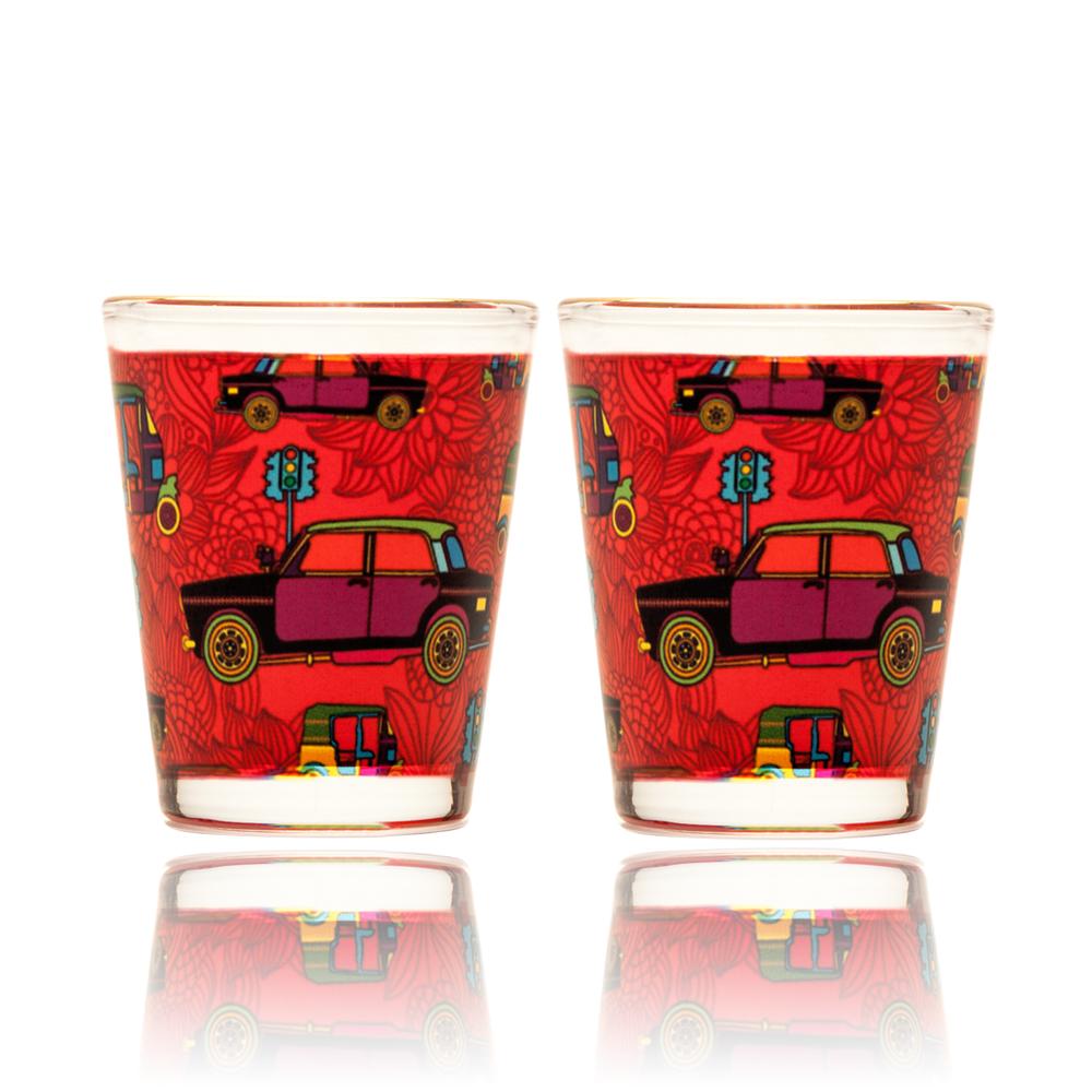Funky Transport Shot Glass