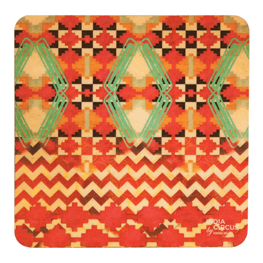 Tribal Emerald Coasters - (Set of 6)