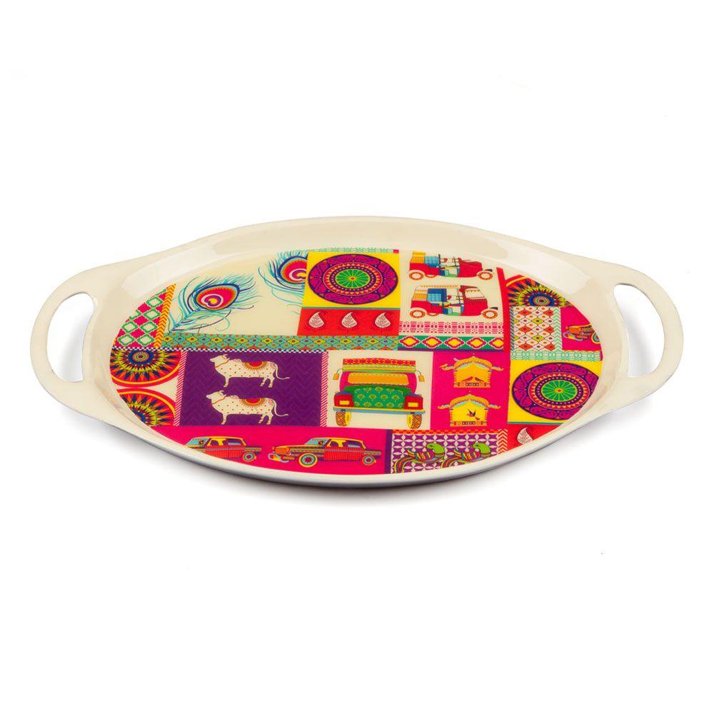 Pretty Potpourri Oval Serving Platter