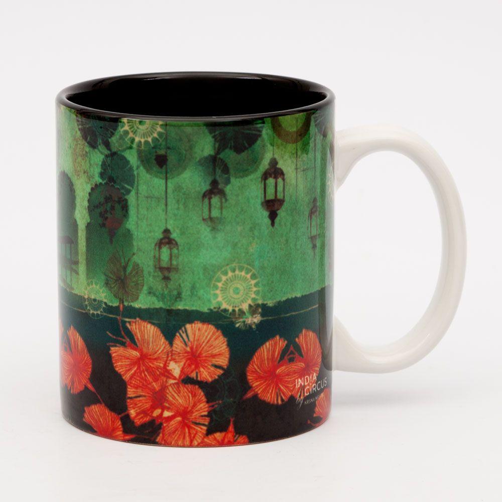 Leaves and Lanterns Ceramic Mug