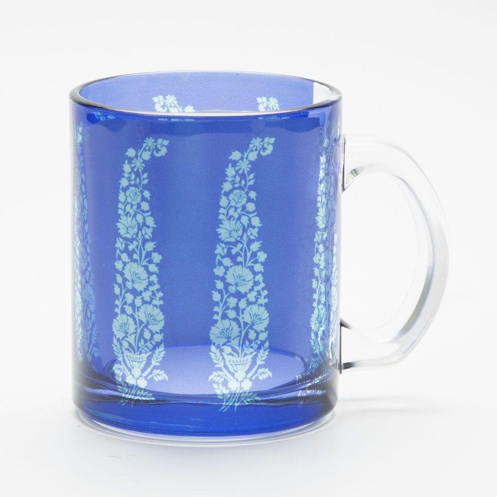 Floral Paisley Glass Mug