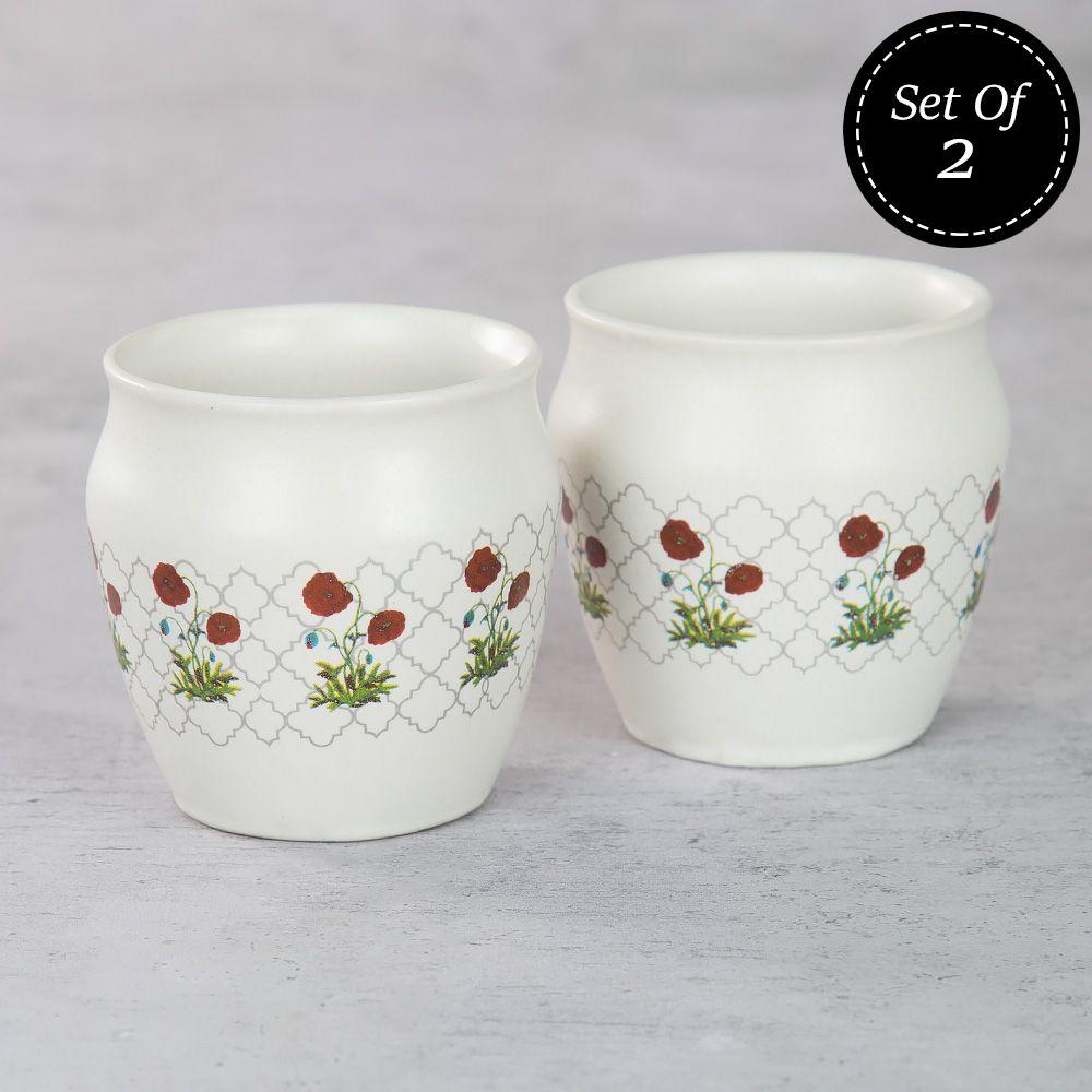 Floral Twinkles Kullad (Set of 2)