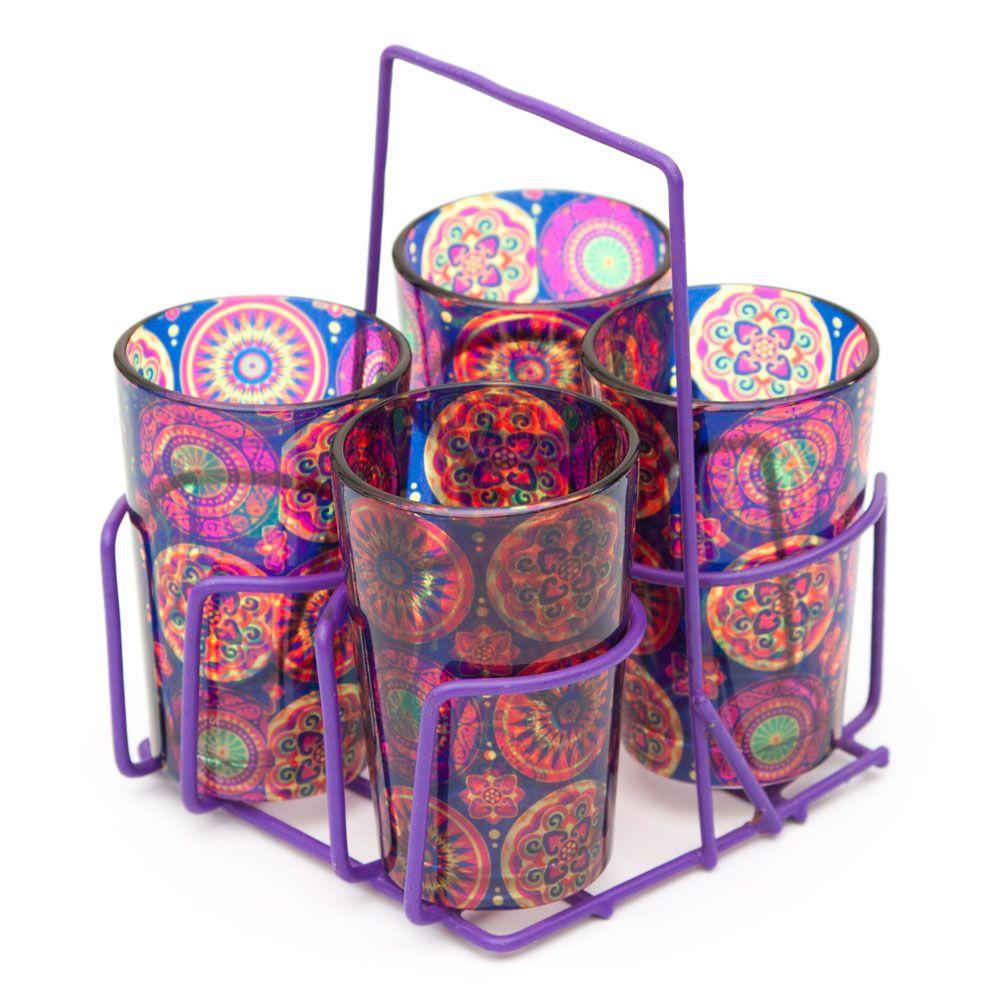 Circular Chaos Chai Glasses