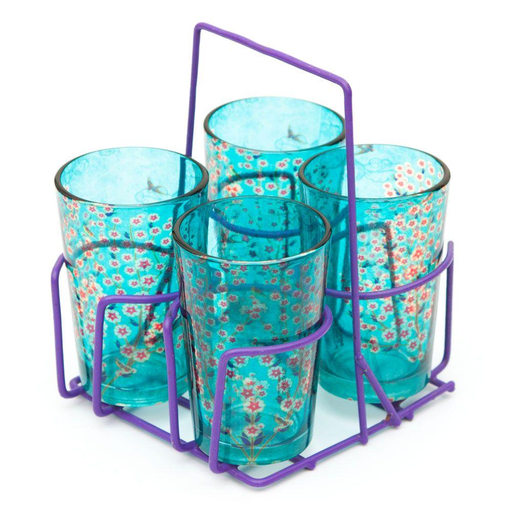 Beryl Boutonniere Chai Glasses