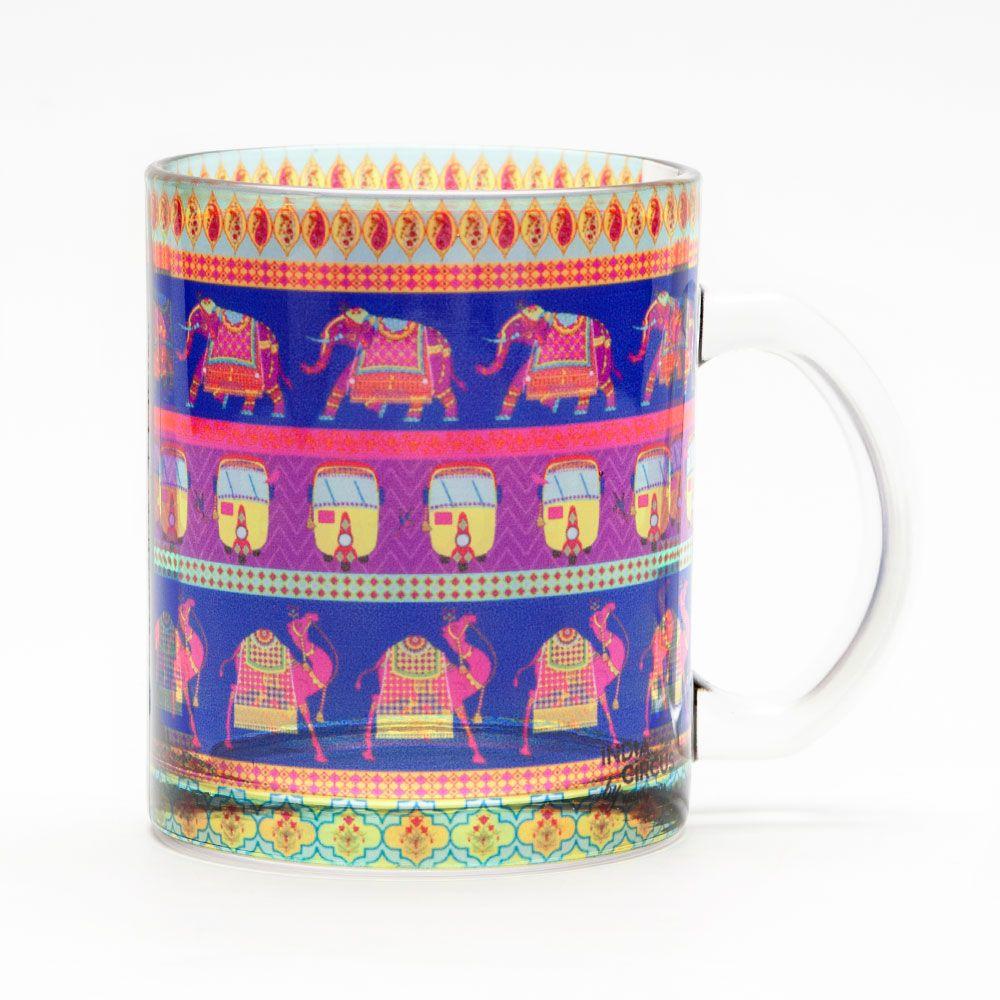 Royal Animals Glass Mug