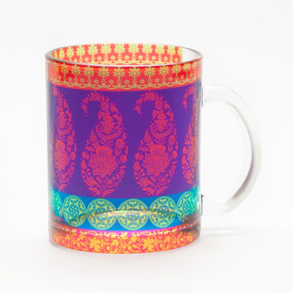 Motif Cachemire Glass Mug