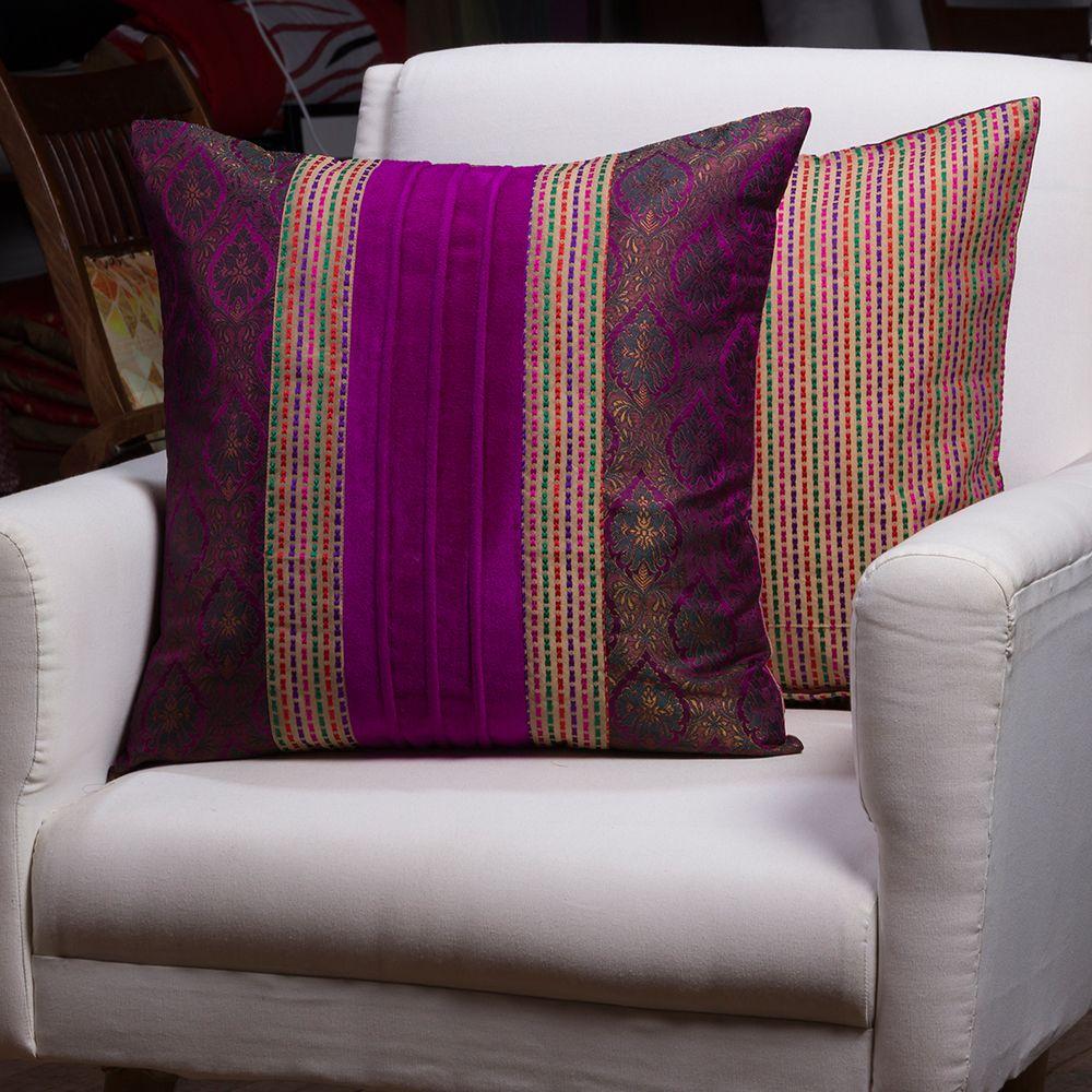 Cord work Cushion cover