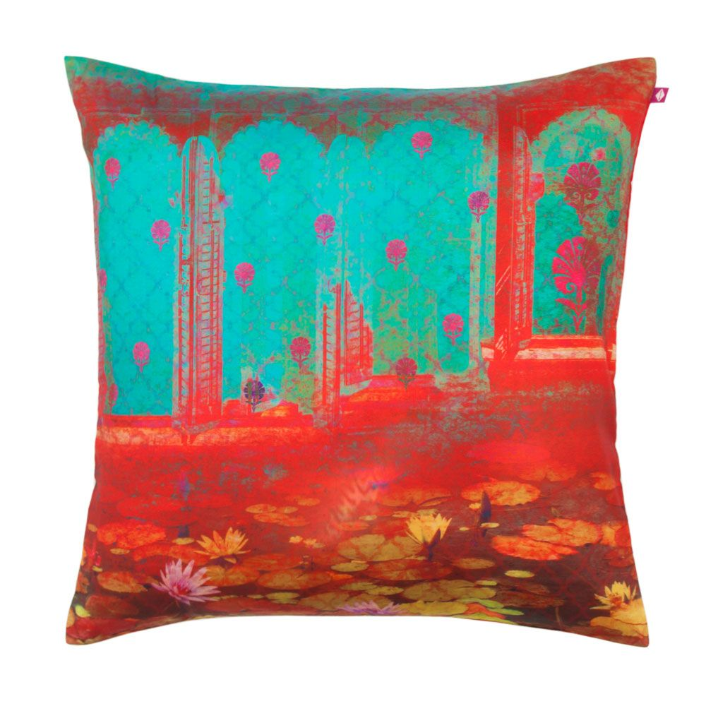 Her Majestys Hideaway Poly Taf Silk Cushion Cover