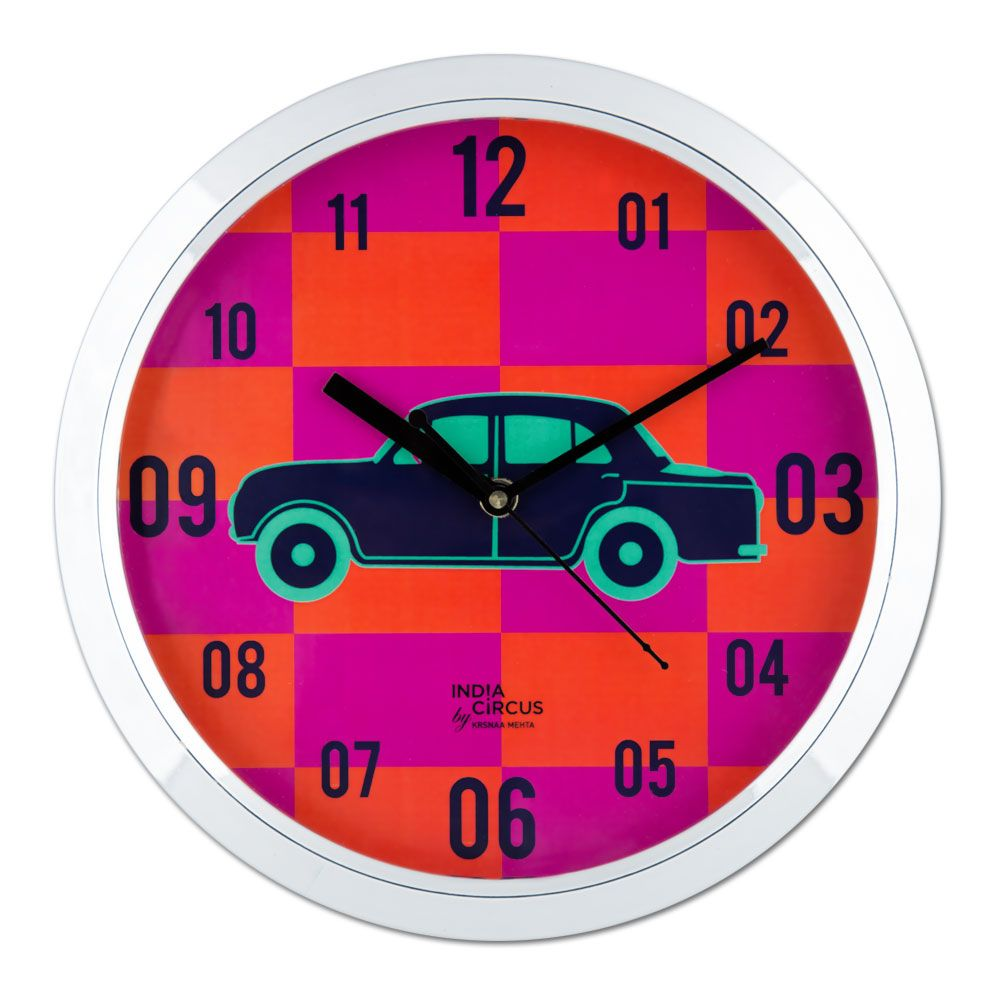 Vintage on Wheels Wall Clock