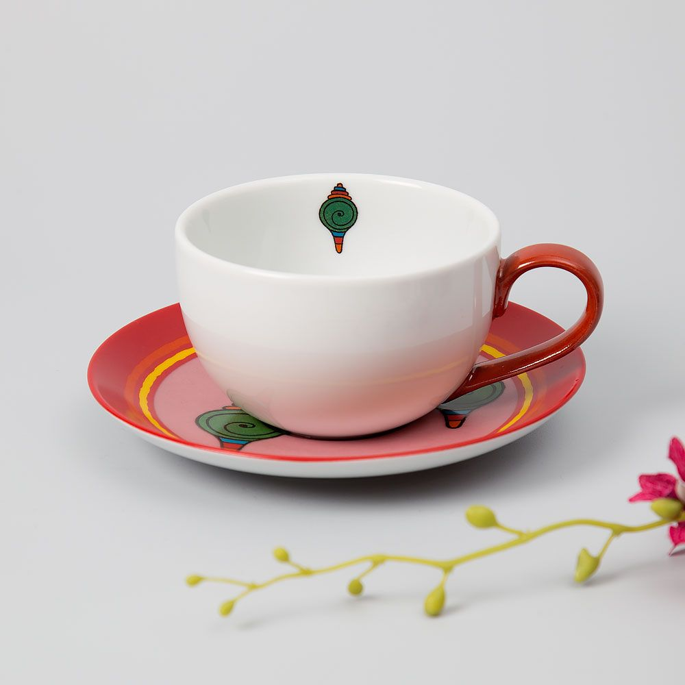 Floral Ambush Cup and Saucer