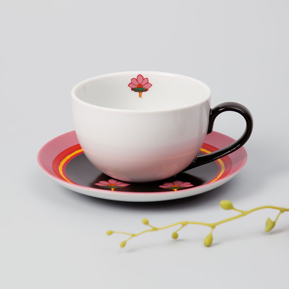 Maple in Pink Cup and Saucer