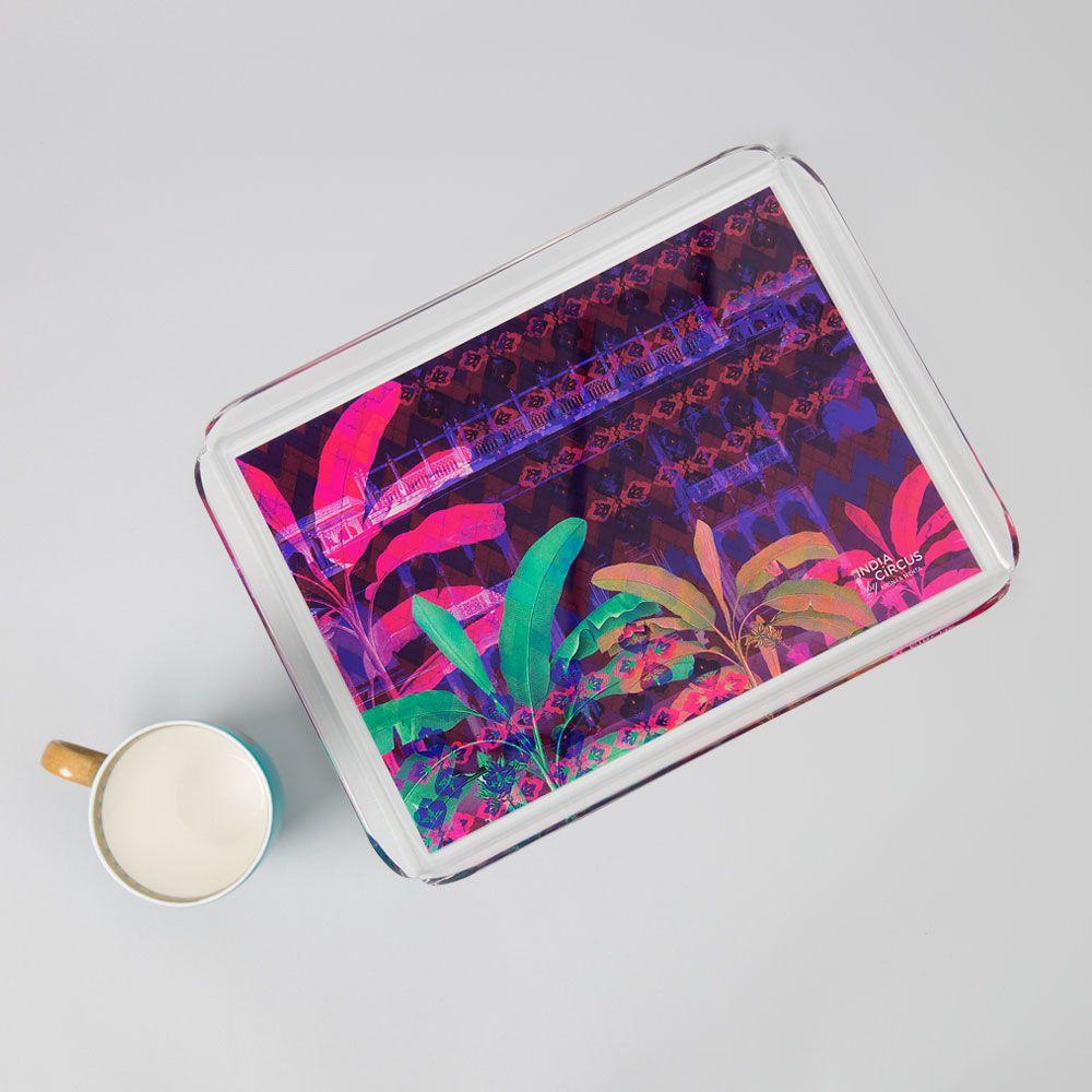 Neon Paradise Acrylic Tray