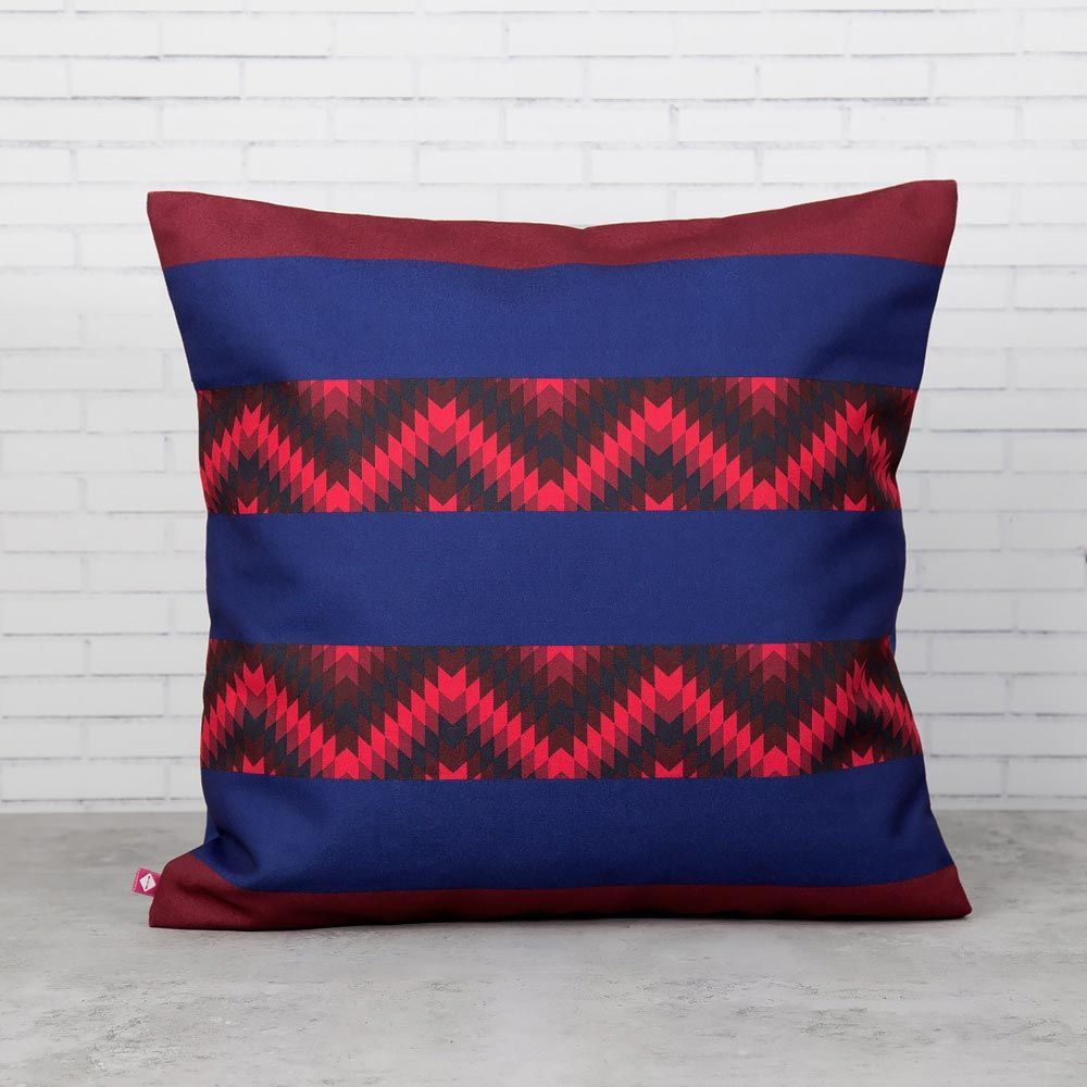 Valley of Lines Poly Canvas Cushion Cover