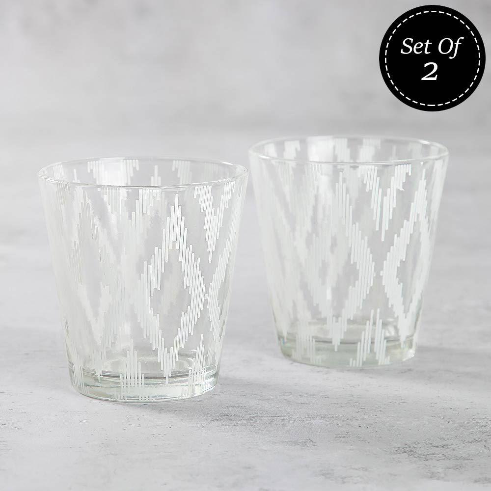 Rhombus Conundrum Glass Tumbler (Set of 2)