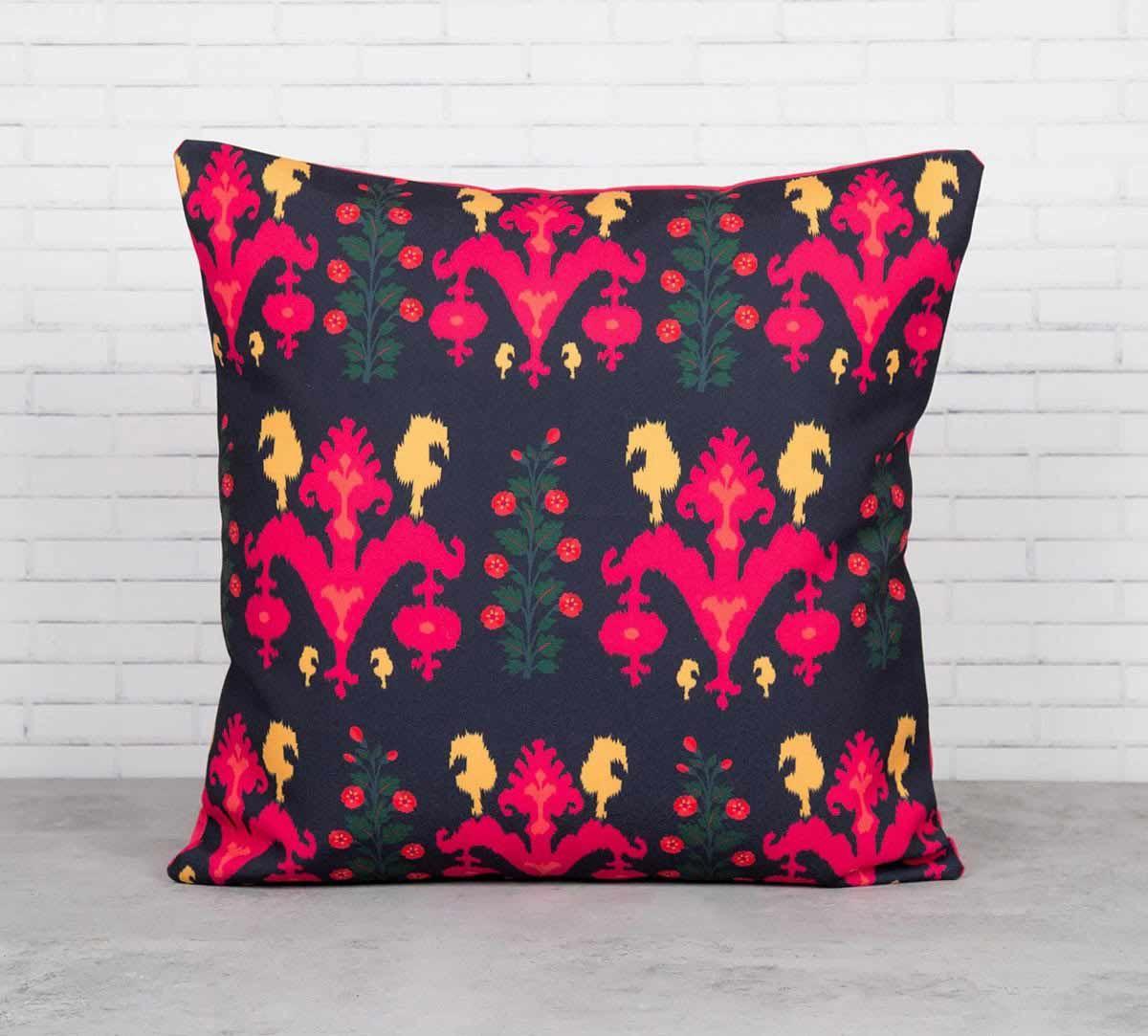 Sunshine Florist Canvas Blend Cushion Cover