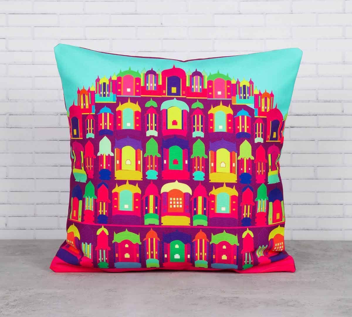 Palatial Illusions Canvas Blend Cushion Cover