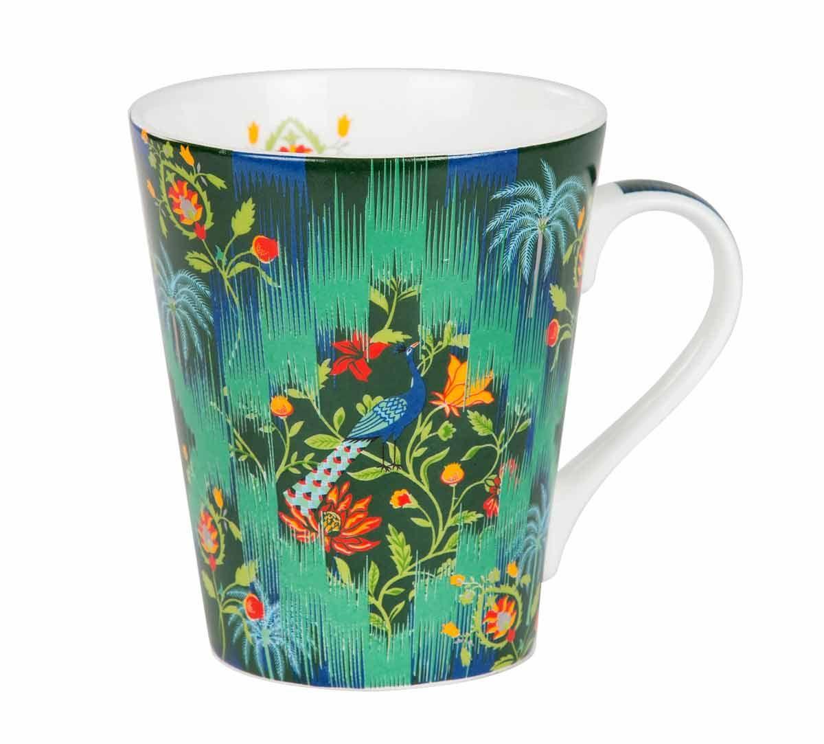 Reign of the Peafowl Bone China Mug