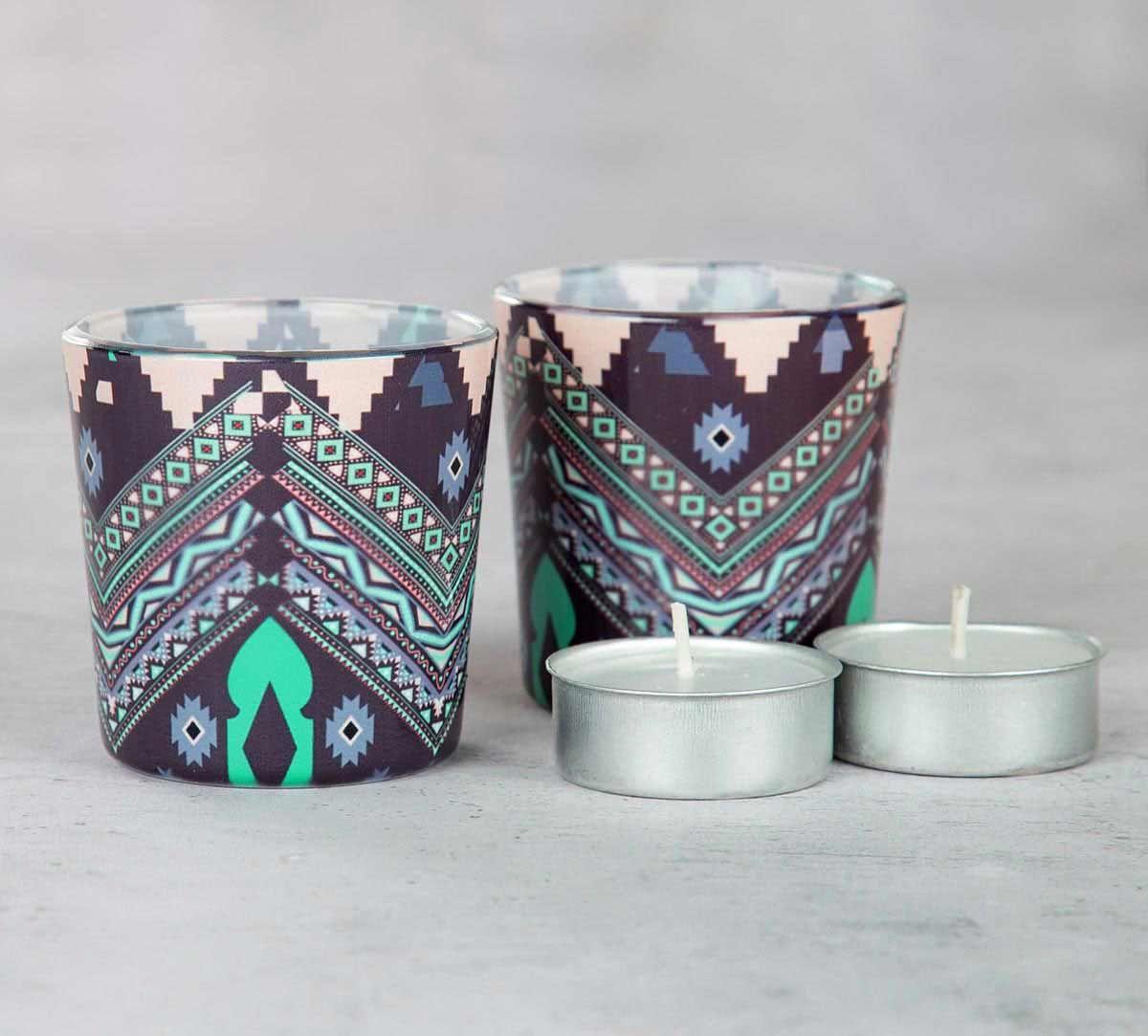 Aztec Mirage Tea Light Holder (Set of 2)
