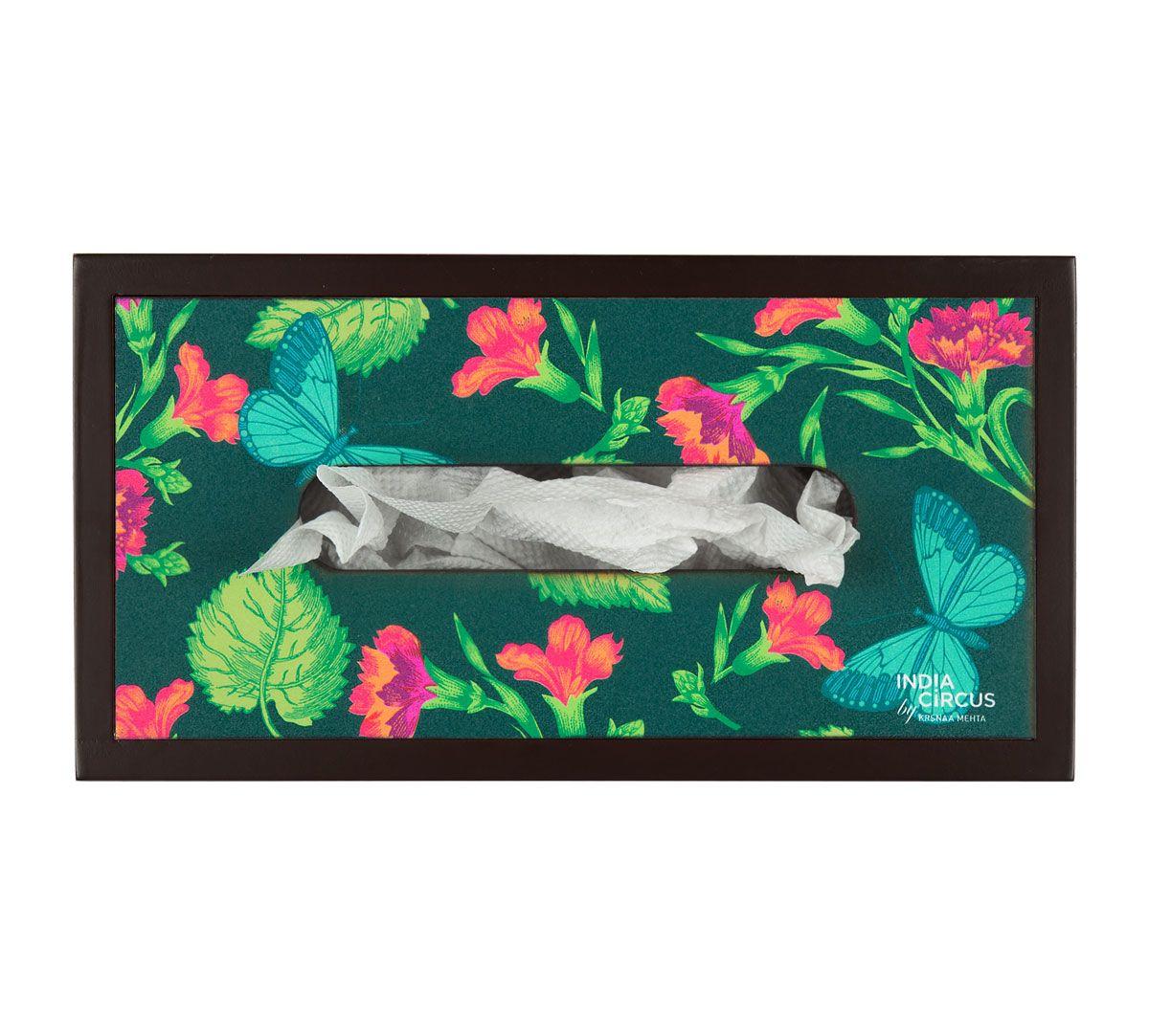 Fluttering Extravagance MDF Tissue Box Holder