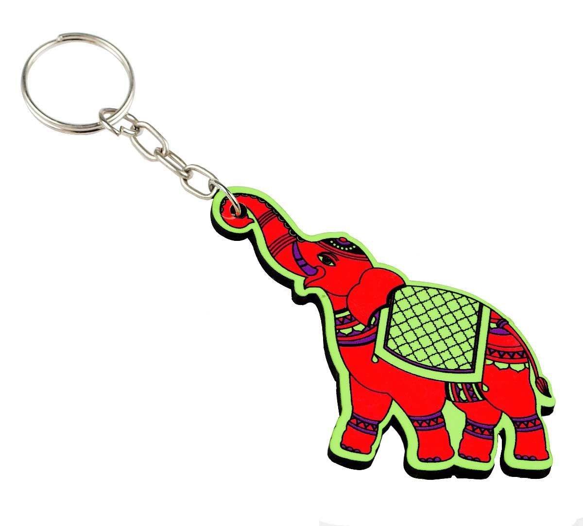Funky Elephants Keychain