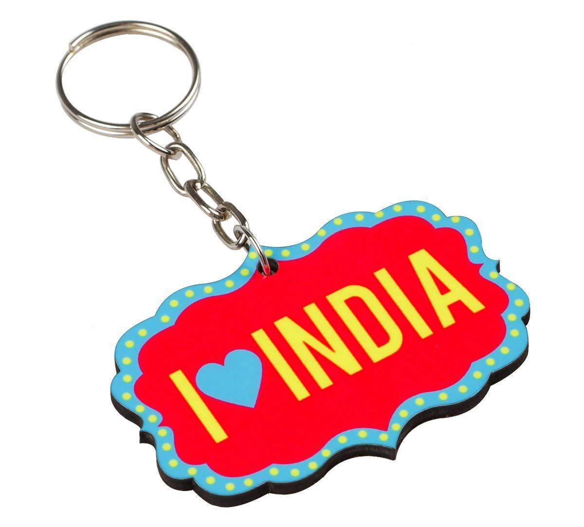 I Heart India Keychain