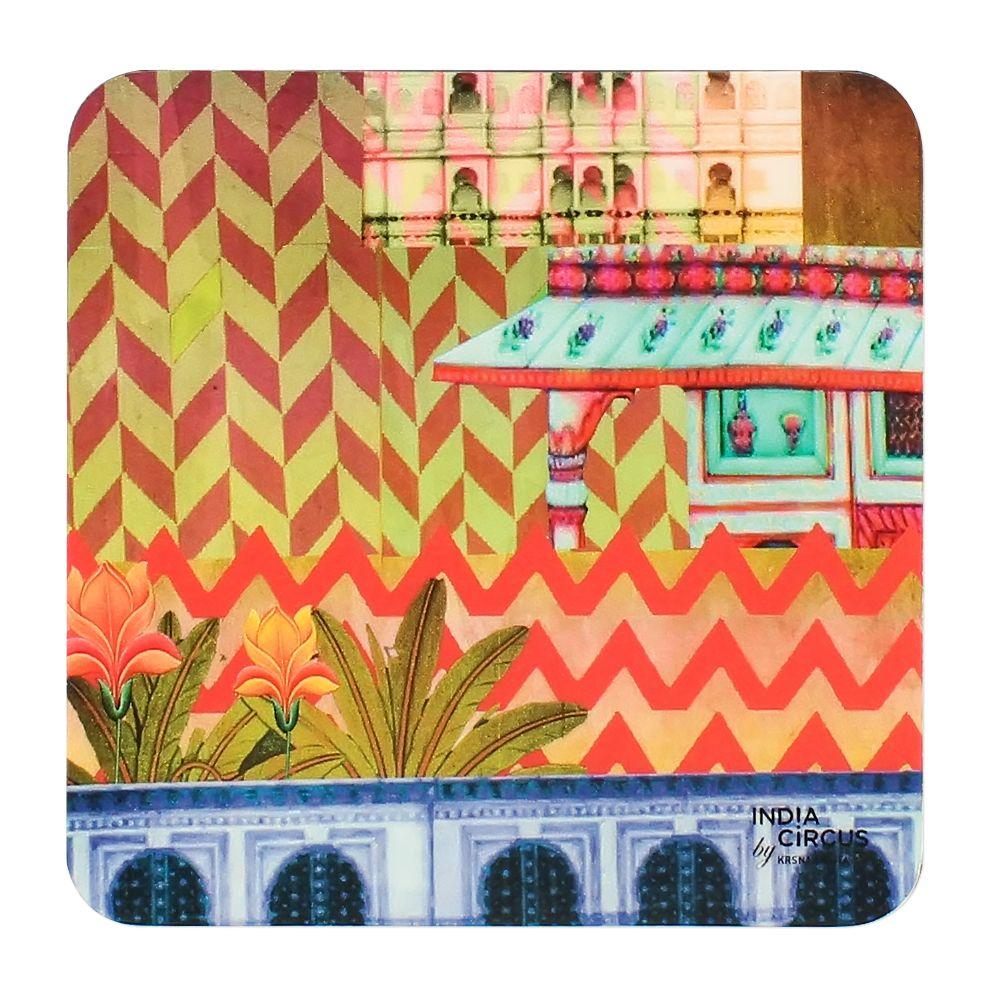 Mughal Twist PVC Coasters - (Set of 6)