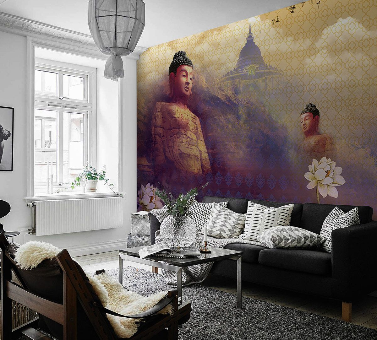Buddha's Heart Sutra - Warm Wallpaper