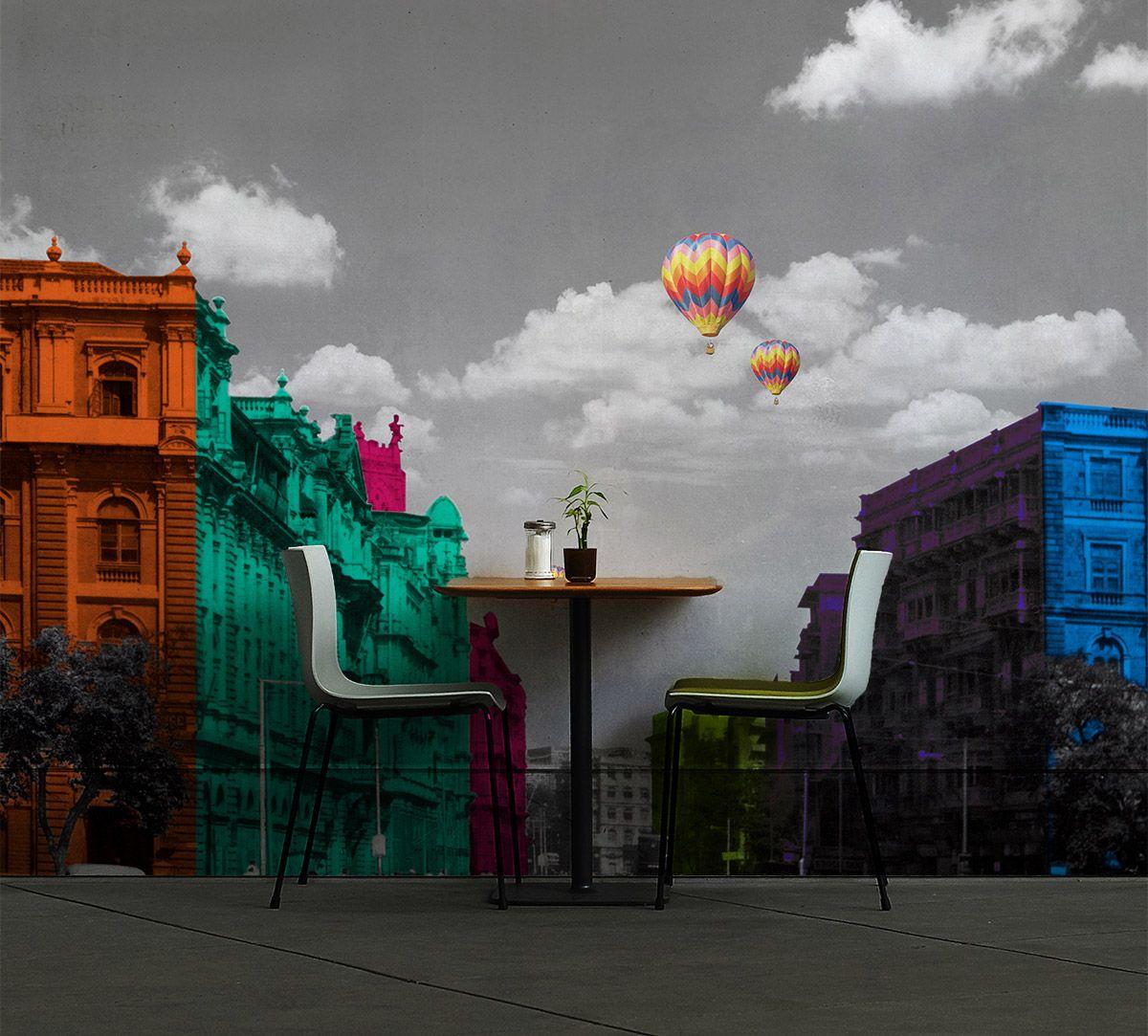City of Flux - Minimal palette Wallpaper