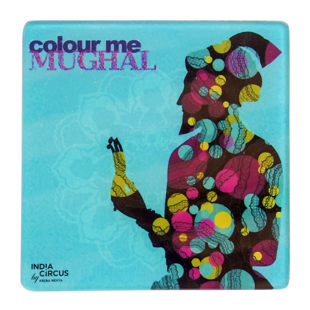 Jalebi Colour Me Moghul Acrylic Coasters - (Set of 6)
