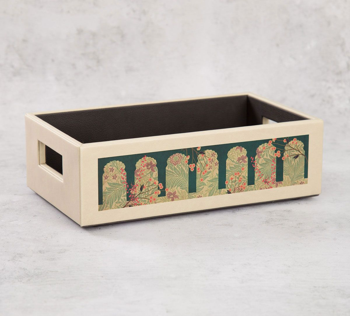 India Circus Cypress Vines Leather Tray