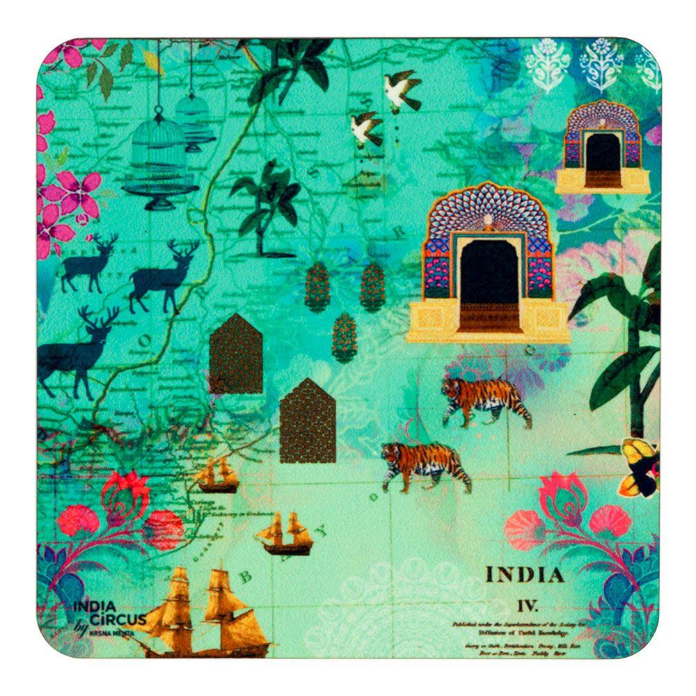 Desi  Wonderland MDF Coaster - (Set of 6)
