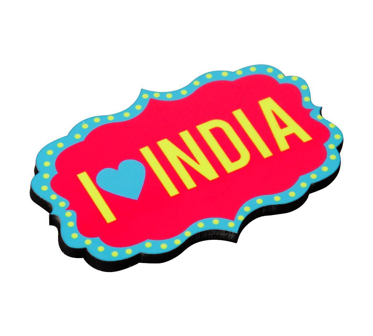 I Heart India MDF Fridge Magnet