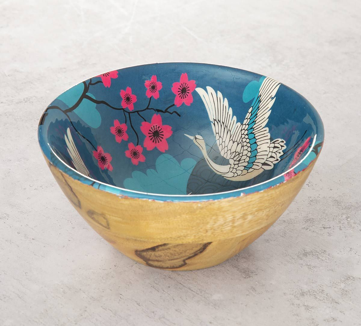 India Circus Aerial Moments Wooden Bowl