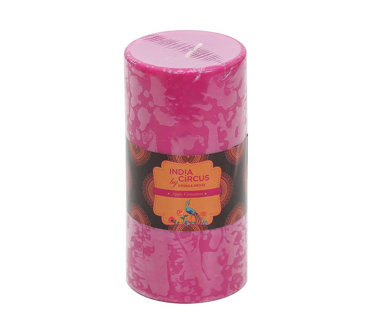 India Circus Apple Cinnamon Pillar Candle