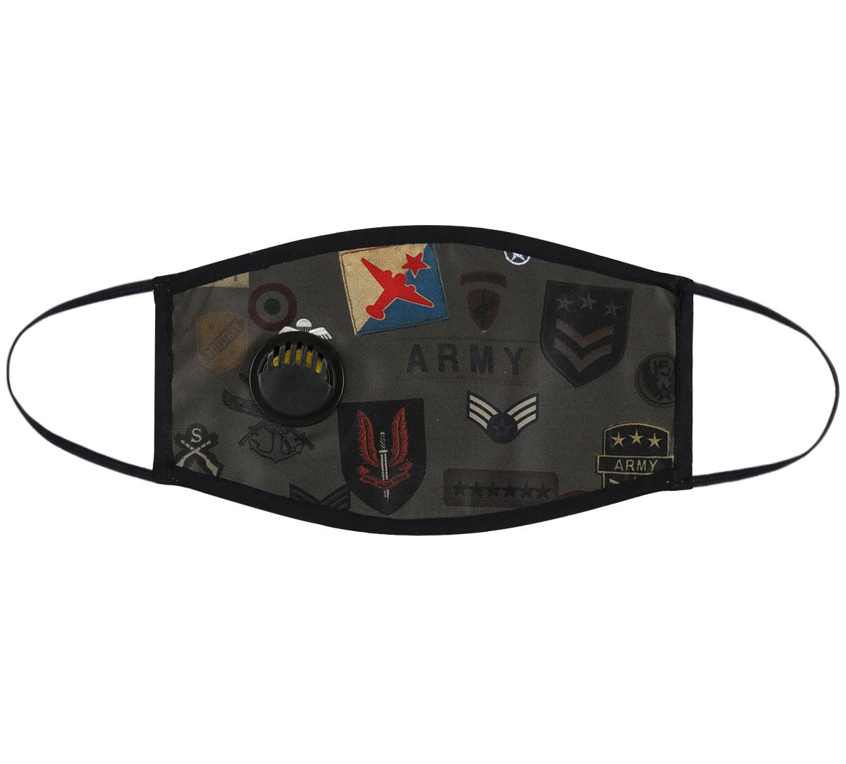 India Circus Army Badges Rush Protective Face Mask with Breathing Valve