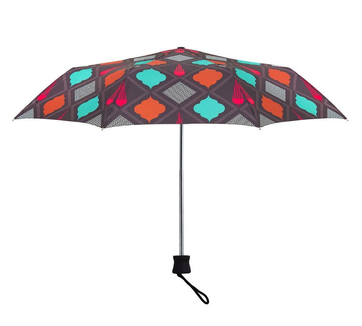 India Circus Assorted Geometry 3 Fold Umbrella