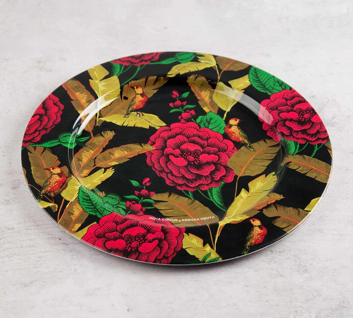 India Circus Bayrose Romance 11 inch Decor Plate