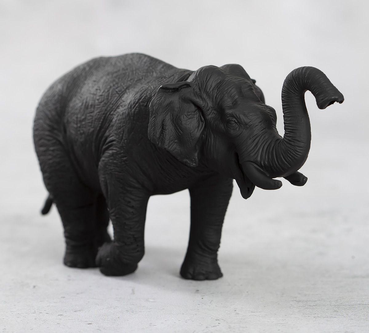 India Circus Black Baby Tusker Figurine