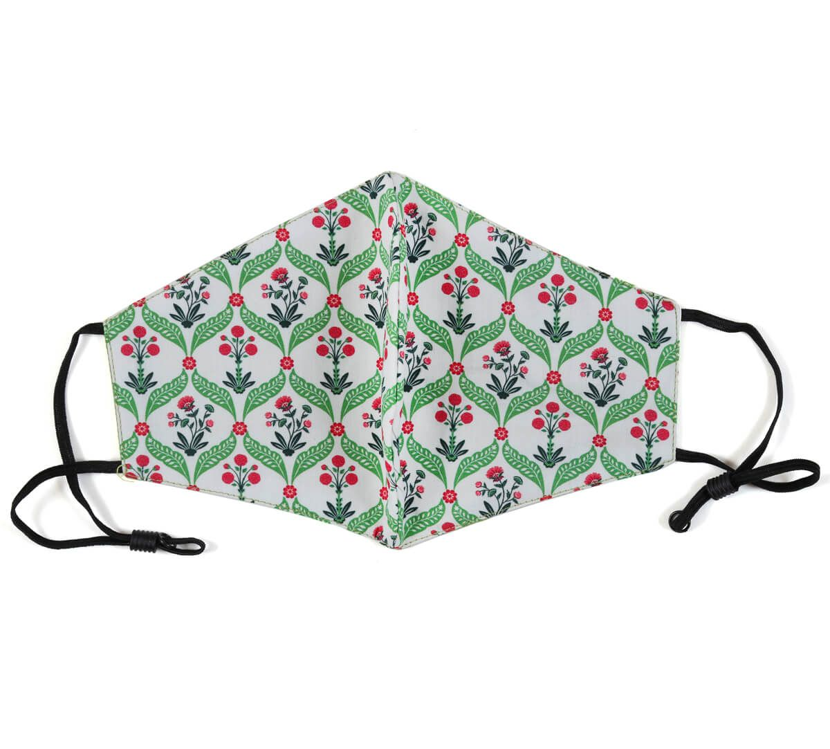 India Circus Blooming Dahlia Comfortable Outdoor Face Mask