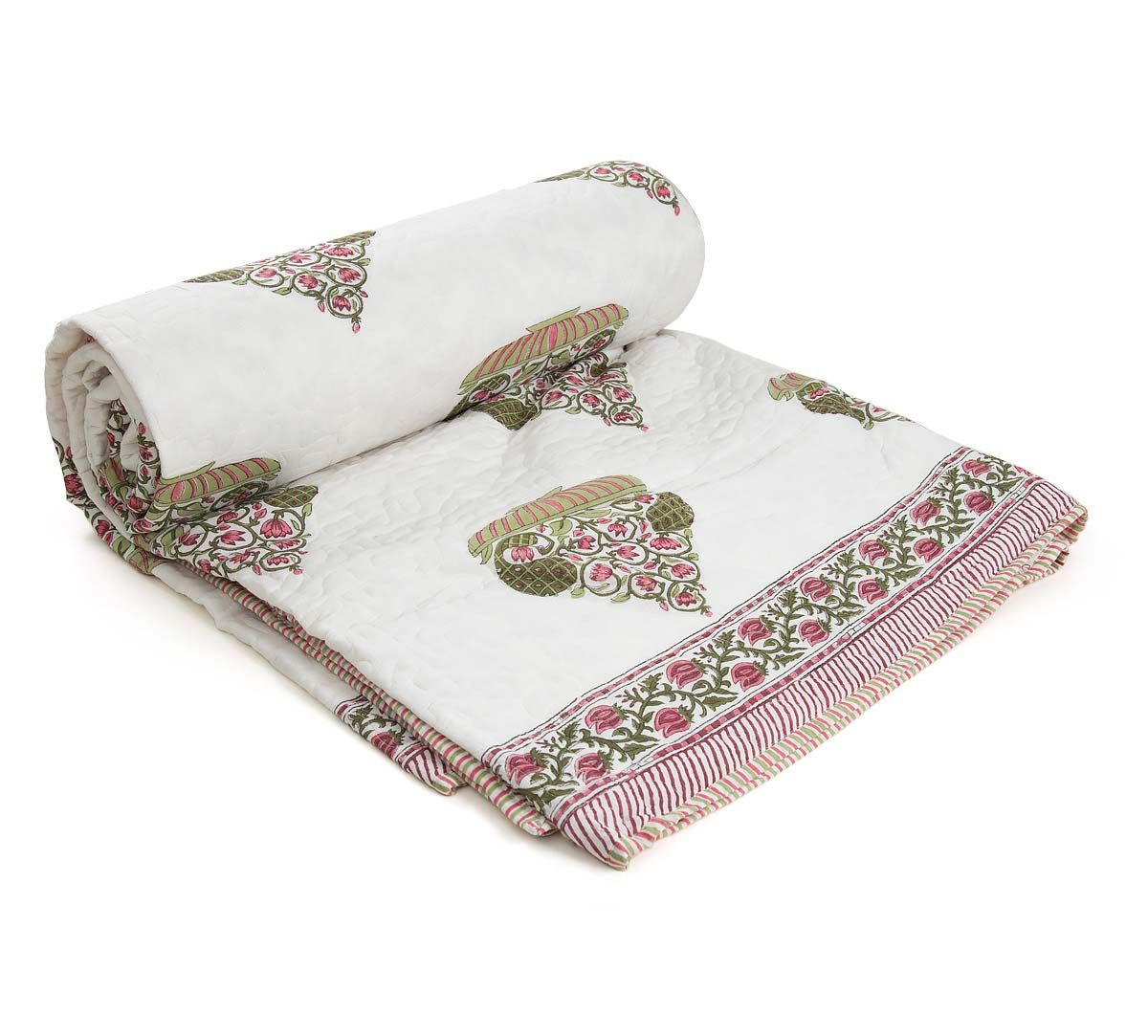 India Circus Blooming Planter Quilted Comforter Set