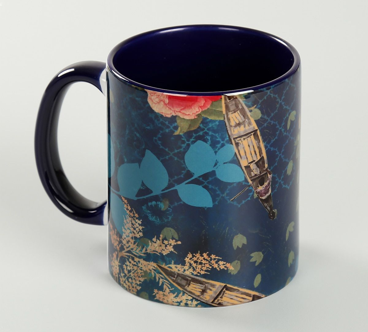 India Circus Blue Floral Lake Inception Coffee Mug