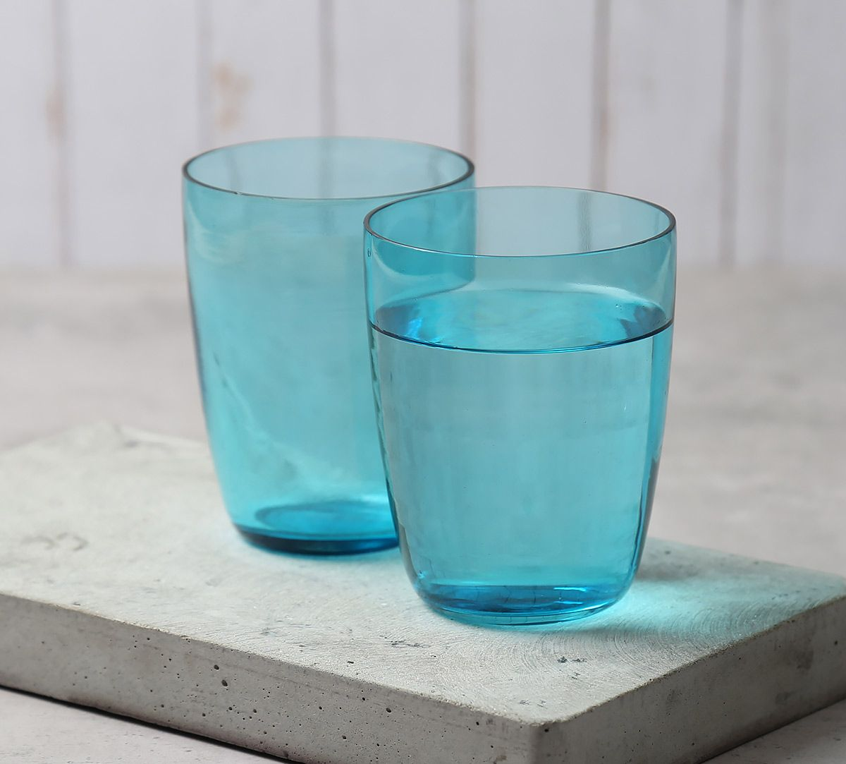 India Circus Blue Water Drinking Glass (Set of 2)